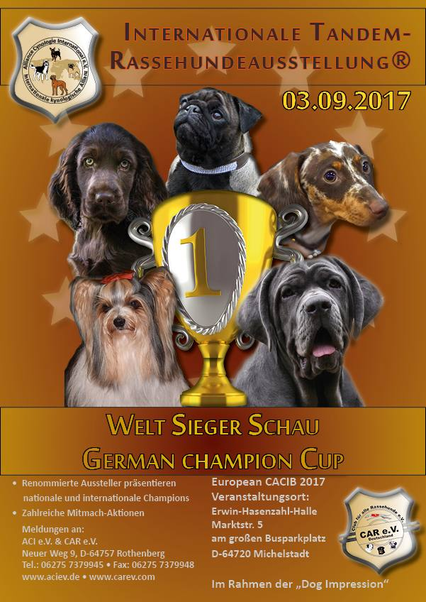 Internationale Tandem- Rassehundeausstellung®03.09.2017